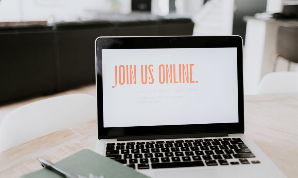 Photo Online-Seminar Join Us Online